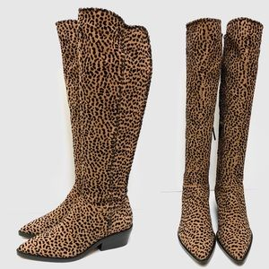 1 STATE Sage Leopard Boots NWOB Size 6.5